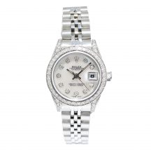 Rolex Datejust Steel Mother Of Pearl Diamond Dial