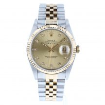 Rolex Datejust 36mm Steel and Gold Diamond Dot Dial