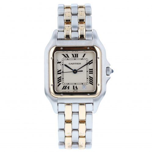 Cartier Panthere Steel and Gold Gents