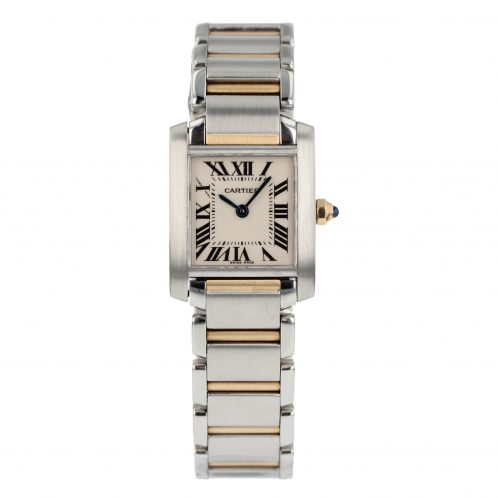 Cartier Tank Francaise Ladies Steel & Gold