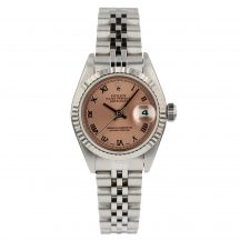 Rolex Datejust Steel And White Gold 26mm Pink Dial