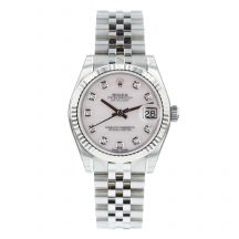 Rolex Datejust 31mm Steel Diamond Dot Mother of Pearl Dial