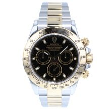 Rolex Daytona Steel & Gold Black Dial