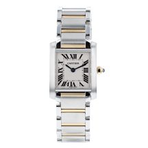 Cartier Tank Francaise Steel and Gold Ladies