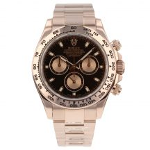 Rolex Daytona In 18ct Rose Gold With Black Dial