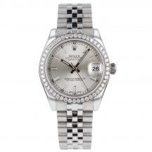 31mm Rolex Datejust In Steel Diamond Bezel