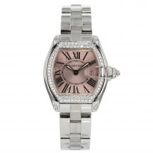 Cartier Ladies Roadster Diamond Set Pink Dial