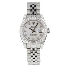 Rolex Datejust 26mm With Diamond Dot Mother Of Pearl Dial & Bezel