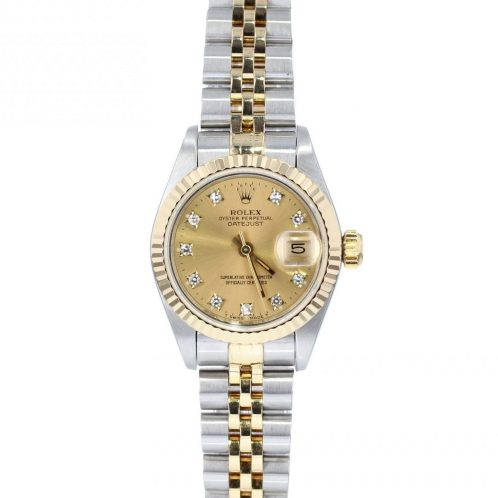 26mm Rolex Datejust Steel and Gold Diamond Dot Dial