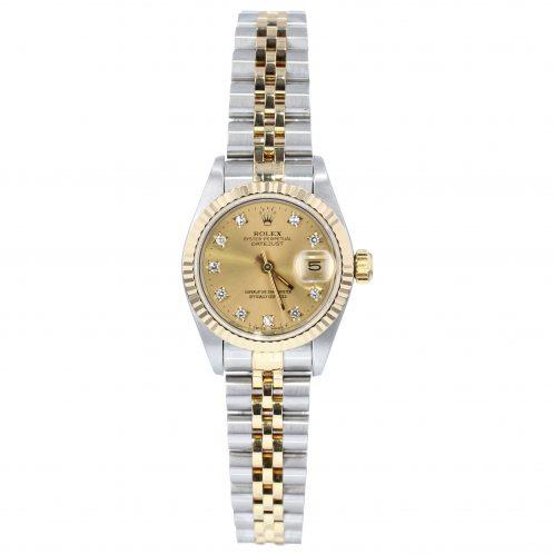 Rolex Datejust 26mm In Steel & Gold Diamond Dot Dial