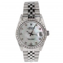 Rolex Datejust 31mm With Mother Of Pearl Diamond Dot Dial & Bezel