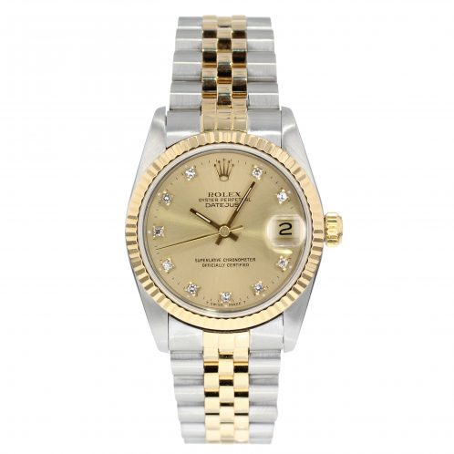 Rolex Steel & Gold Datejust 31mm With Diamond Dial