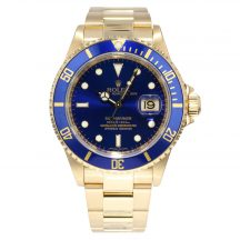 Rolex Submariner in 18ct Yellow Gold 16618