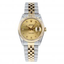 Rolex Datejust Champagne Diamond Dial 36mm