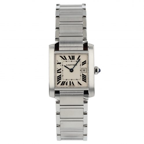 Cartier Tank Francaise In Stainless Steel Midi