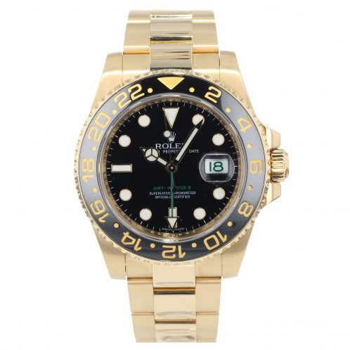 Rolex GMT Master II In 18ct Yellow Gold