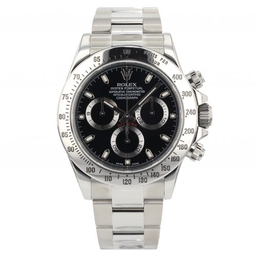 Rolex Daytona Black Dial In Stainless Steel