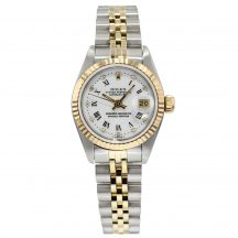 Rolex Ladies Datejust Steel & Gold Diamond White Dial