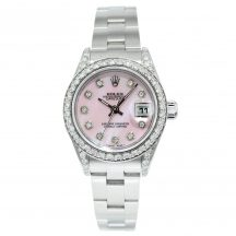 26mm Rolex Datejust In Stainless Steel With Diamond Bezel