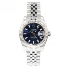 26mm Rolex Datejust With Blue Baton Dial