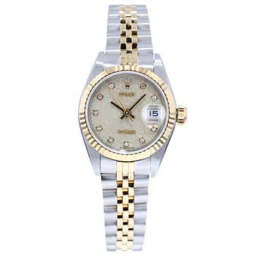 26mm Rolex Datejust Steel & Gold Jubilee Diamond Dial