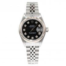 26mm Rolex Datejust With Black Diamond Dot Dial