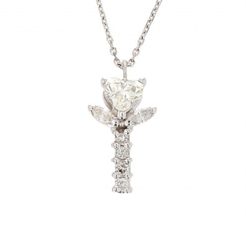 Diamond Flower Pedant 1.00ct