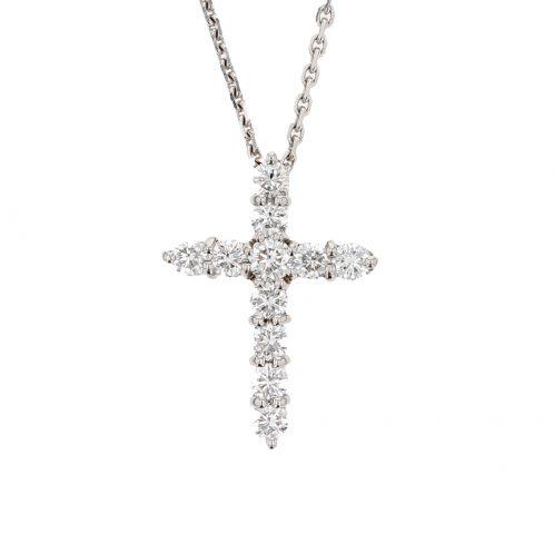 Brilliant Cut Diamond Cross 1.20ct