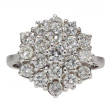 Diamond Cluster Ring in 18ct White Gold 2.00ct