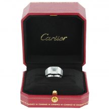 Cartier Quartz Tank Ring 18ct White Gold