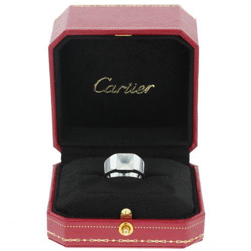 Cartier Quartz Tank Ring 18ct White Gold