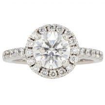 Brilliant Cut Diamond Engagement Ring 1.48ct