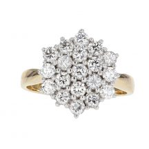 Diamond Cluster Ring 1.10ct