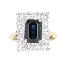 Sapphire & Diamond Ring 2.60ct