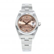 Rolex Date 26mm Salmon Dial