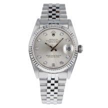 Rolex Datejust Silver Diamond Dot Dial 31mm