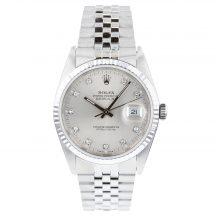Rolex Datejust Silver Diamond Dot Dial