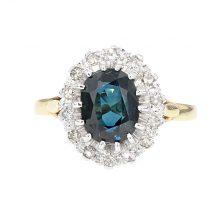 Sapphire & Diamond Ring 2.00ct