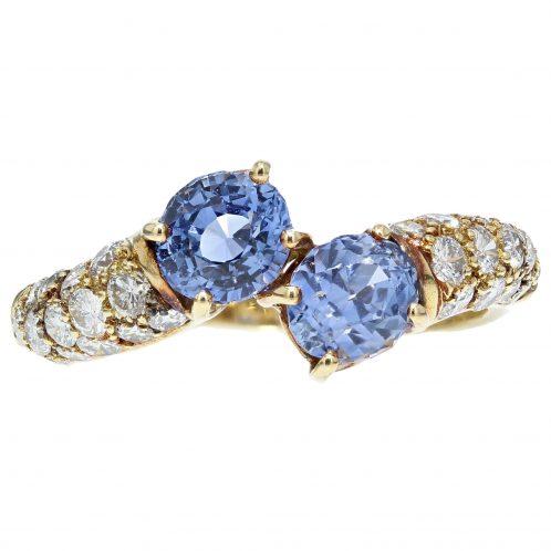 Sapphire & Diamond Yellow Gold Ring