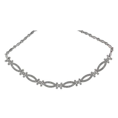 Oval Link Diamond Necklace