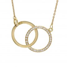 Diamond Double Circle Pendant 1.08ct