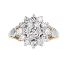 Diamond Cluster Ring 1.20