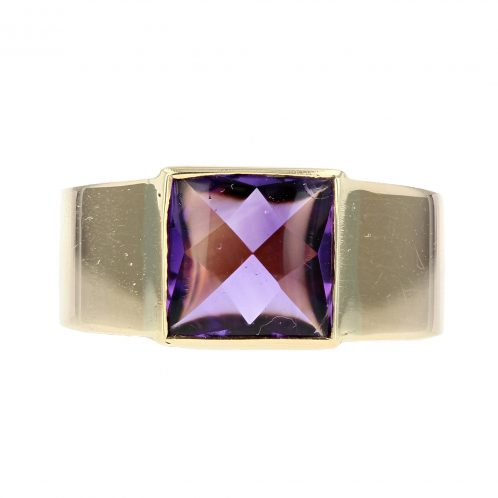 Amethyst Ring in 18ct Yellow Gold