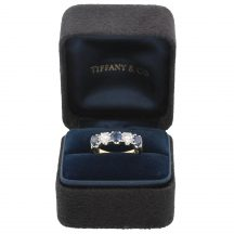 Tiffany & Co Sapphire and Diamond 5 Stone Ring