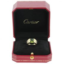Cartier Peridot Tank Ring 18ct Yellow Gold