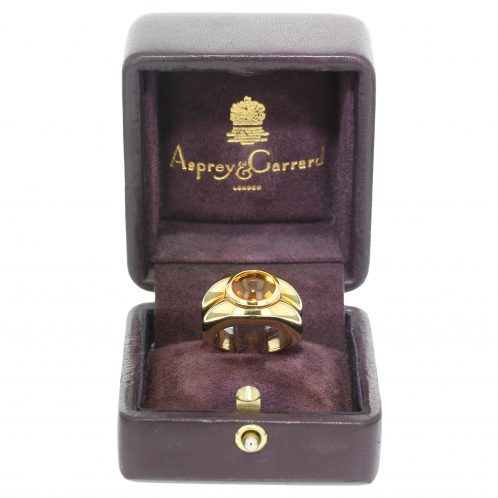 Asprey Citrine Ring And Earrings