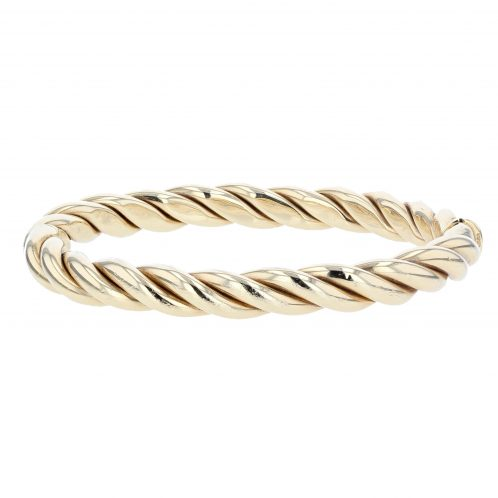 18ct Yellow Gold Twist Bangle