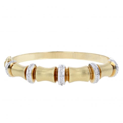 18ct Yellow Gold Diamond Bangle