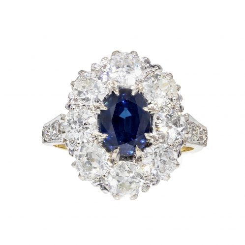 1940's Sapphire And Diamond Ring