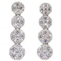 2.00ct Diamond Cluster Earrings
